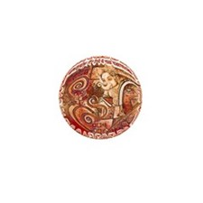red ganesh Mini Button (10 pack)