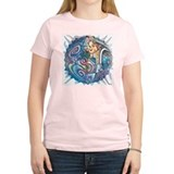 blue ganesh bubble white T-Shirt