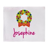 Christmas Wreath Josephine Throw Blanket