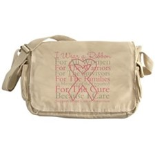 Pink Ribbon Breast Cancer Messenger Bag