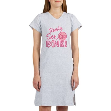 Ready, Set, Go Pink Women's Nightshirt