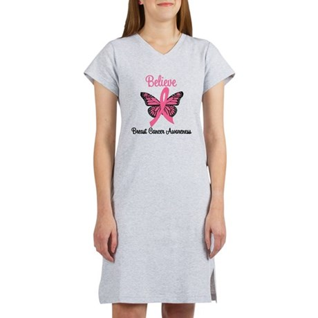 Believe Breast Cancer Women's Nightshirt
