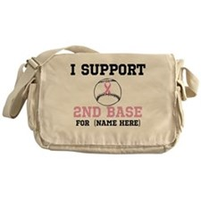 Custom 2nd Base Breast Cancer Messenger Bag