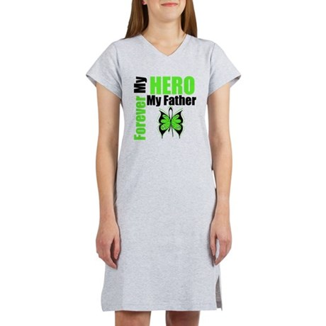 Lymphoma Hero Father Women's Nightshirt