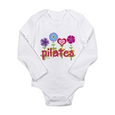 Green Ink Pilates Long Sleeve Infant Bodysuit
