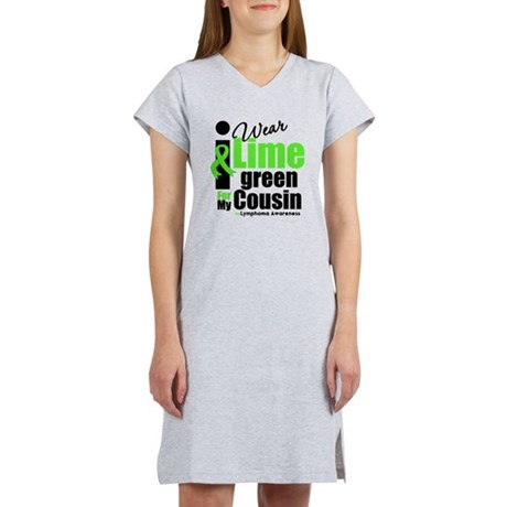 I Wear Lime Green Cousin Women's Nightshirt
