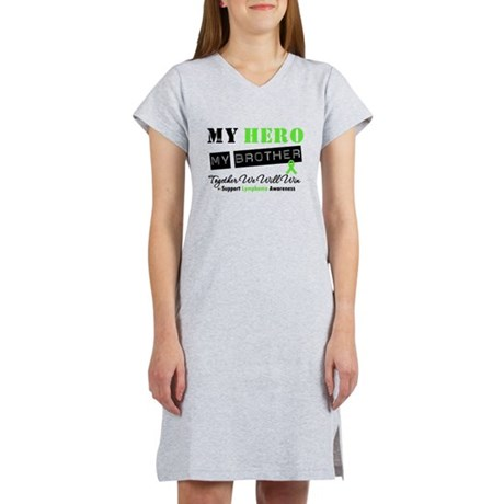 Lymphoma Hero Brother Women's Nightshirt