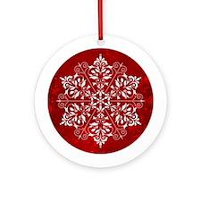 Elegant Snowflake Ornament (Round)