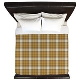 Brown Plaid King Duvet