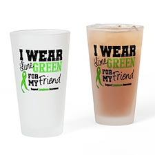 IWearLimeGreen Friend Drinking Glass