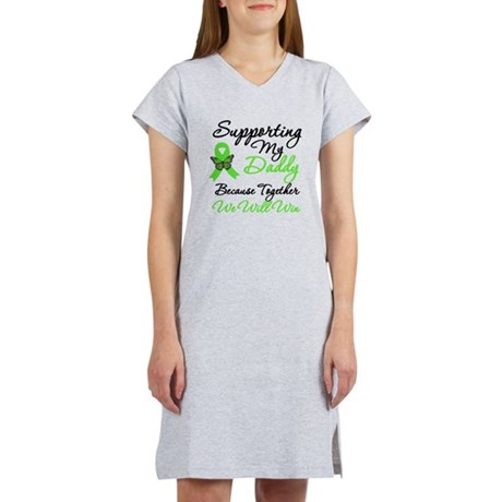 Lymphoma Support (Daddy) Women's Nightshirt