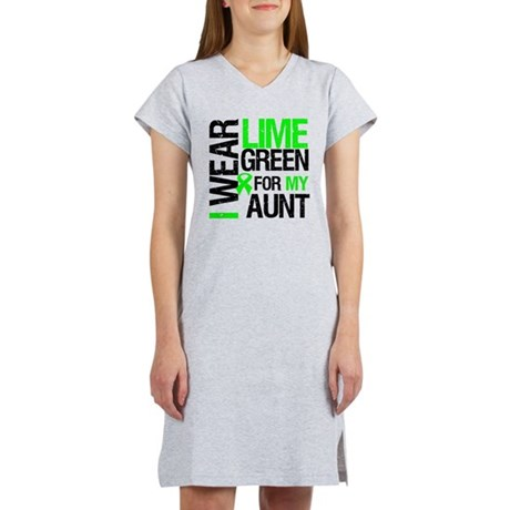 I Wear Lime Green Ribbon Women's Nightshirt