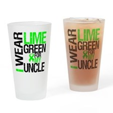 I Wear Lime Green Uncle Drinking Glass