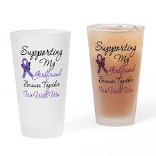 Hodgkin's Disease Support Drinking Glass