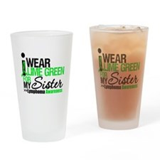 I Wear Lime Green Drinking Glass