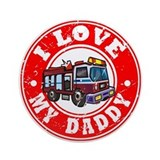 I Love My Daddy - Fire Truck Ornament (Round)