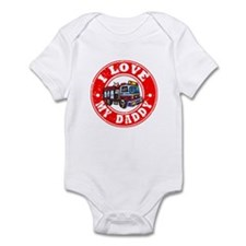 I Love My Daddy - Fire Truck Infant Bodysuit