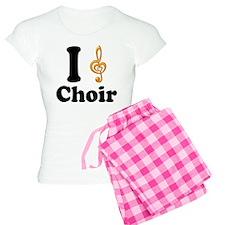 I Love Choir Treble Clef Women's Light Pajamas