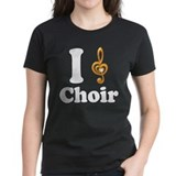 I Love Choir Treble Clef Tee