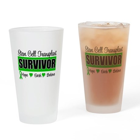 Stem Cell Transplant Survivor Drinking Glass