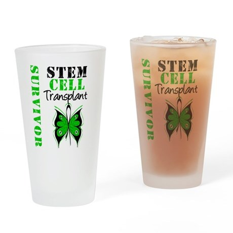 StemCellSurvivorButterfly Drinking Glass