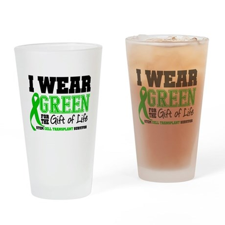 SCT I Wear Green Drinking Glass