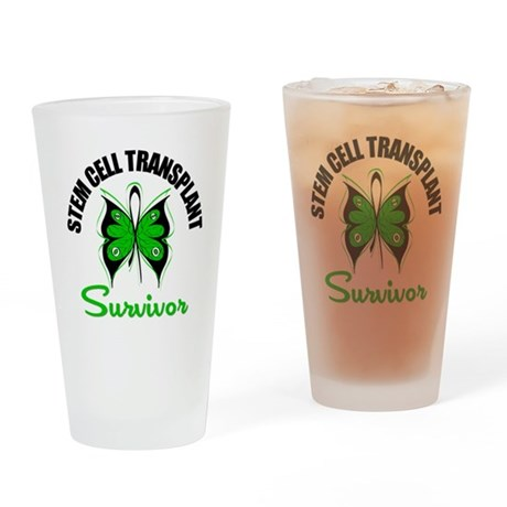 SCT Survivor Butterfly Drinking Glass