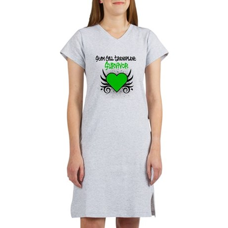 SCT Survivor Grunge Heart Women's Nightshirt