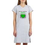 SCT Survivor Grunge Heart Women's Nightshirt