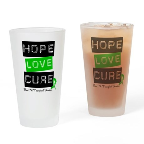 SCTSurvivor HopeLoveCure Drinking Glass