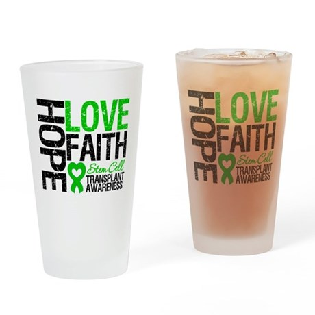 SCT Hope Love Faith Drinking Glass