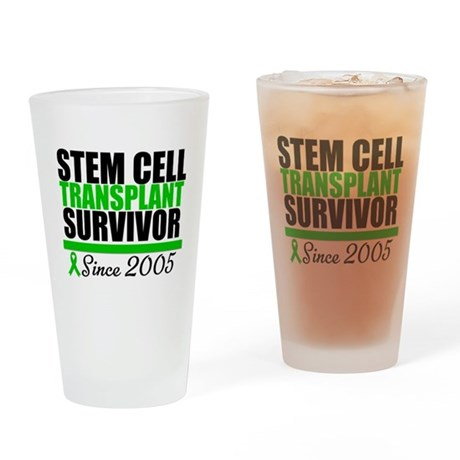 SCT Survivor Green Ribbon Drinking Glass