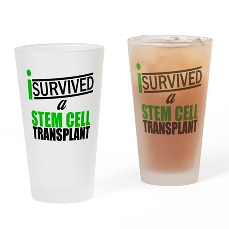 StemCellTransplant Survivor Drinking Glass