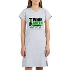 I Wear Green For My Daughter Women's Nightshirt