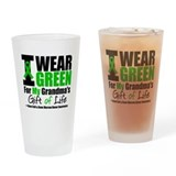 I Wear Green For My Grandma Drinking Glass
