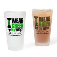I Wear Green For Wife Drinking Glass