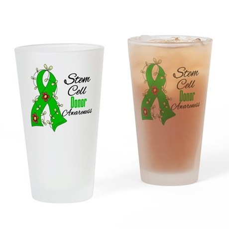 Stem Cell Donor Awareness Drinking Glass