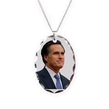 Mitt Romney Necklace Oval Charm