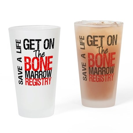 GetOnThe Bone Marrow Registry Drinking Glass