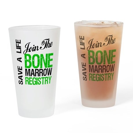 Join The Bone Marrow Registry Drinking Glass