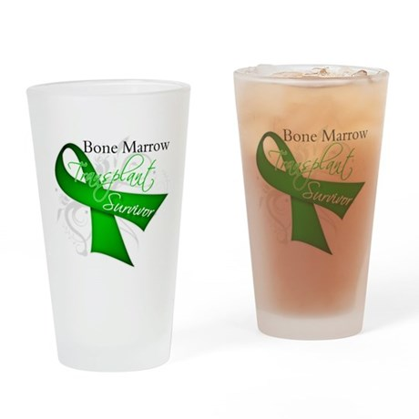 Ribbon BMT Survivor Drinking Glass