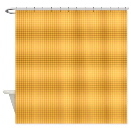 Gt awesome bathroom d 233 cor gt orange and yellow plaid shower curtain