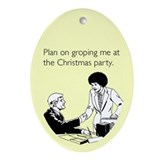 Christmas Party Groping Ornament (Oval)