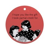 Partial Credit Gift Ornament (Round)