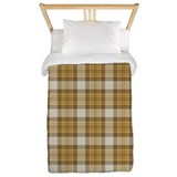 Brown Plaid Twin Duvet