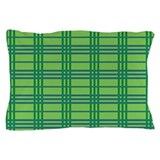 Green Plaid Pillow Case