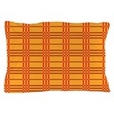 Orange Plaid Pillow Case