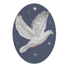 Dove Ornament (Oval) - NEW!