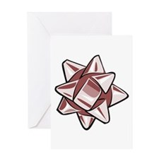 Vintage Red Bow Greeting Card
