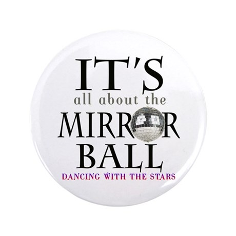 "DWTS Mirror Ball 3.5"" Button"